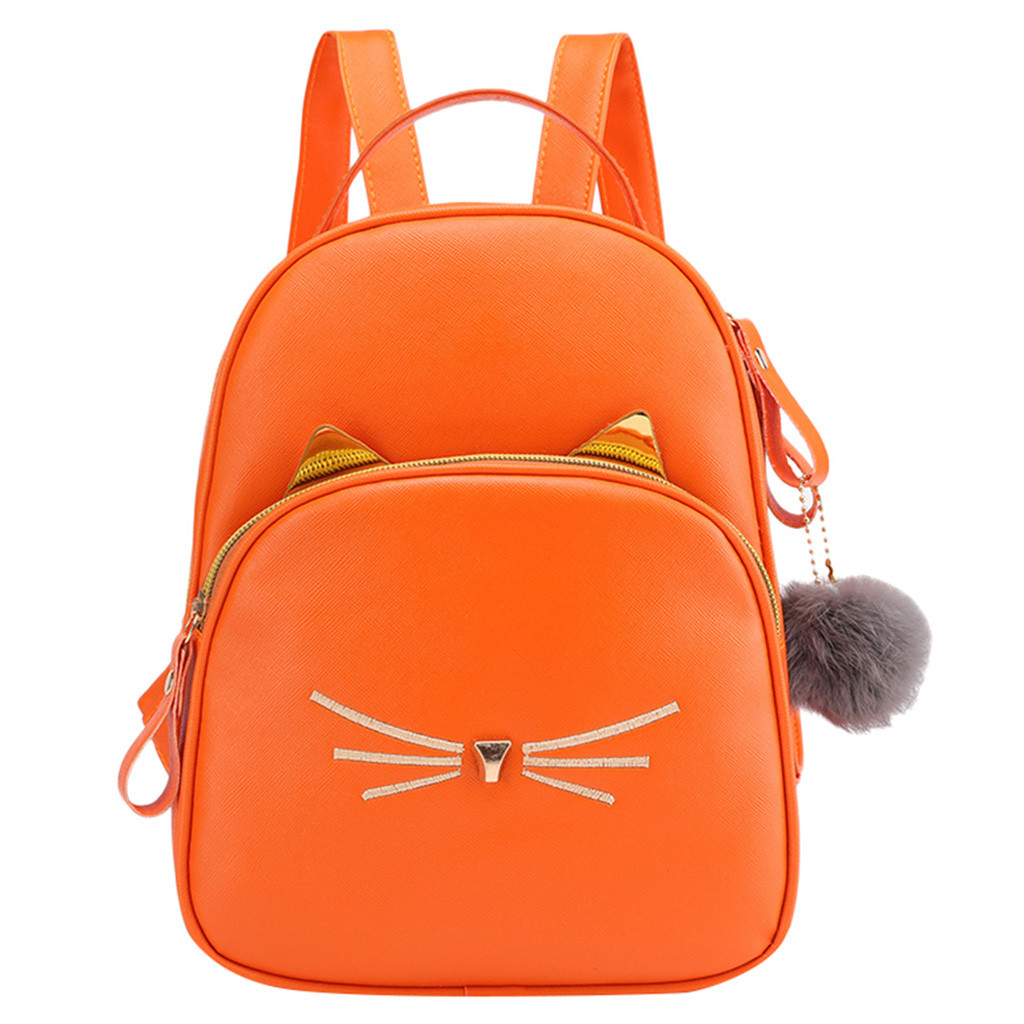 Fashion Women Students Hairball Solid Color School Bag Backpack Bag anti theft Large Capacity Travel Backpack for outdoor Mar 7Fashion Women Students Hairball Solid Color School Bag Backpack Bag anti theft Large Capacity Travel Backpack for outdoor Mar 7