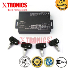 DVD/Navigation TPMS 4 wheels auto Tire Pressure Monitoring System connect to the DVD/Navigation