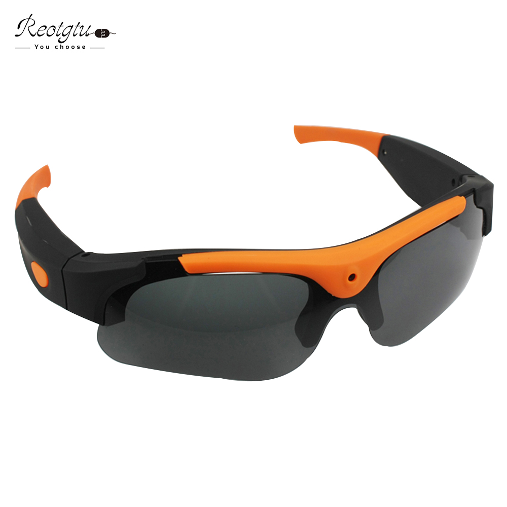 Prix pour REOTGTU intelligente smart lunettes lentilles de caméra HD 1080 P enregistrement lunettes sport DV Lunettes De Soleil à puce Mini Caméscopes lunettes