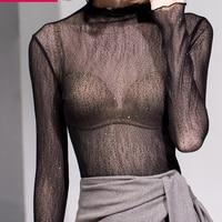 Latin Sexy Mesh yarn Tops Practice Clothing Women Rumba Dance Costume Tango Wear Fashion Lace Inside Tops Clothes DWY788