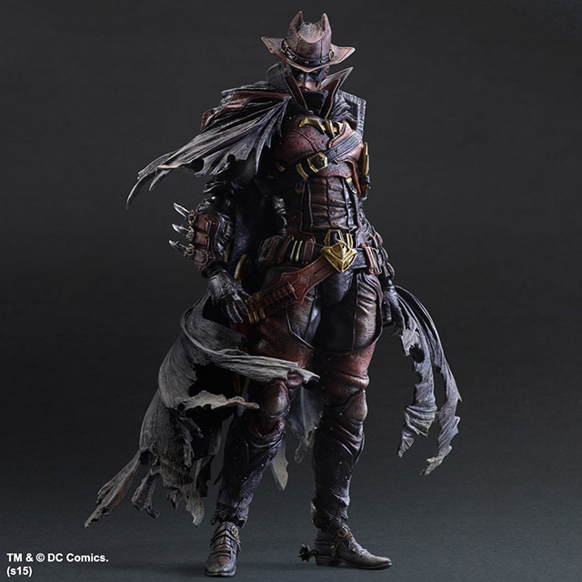 PLAY ARTS 26cm Wild West Batman Timeless Red Version Action Figure Model Toys arts