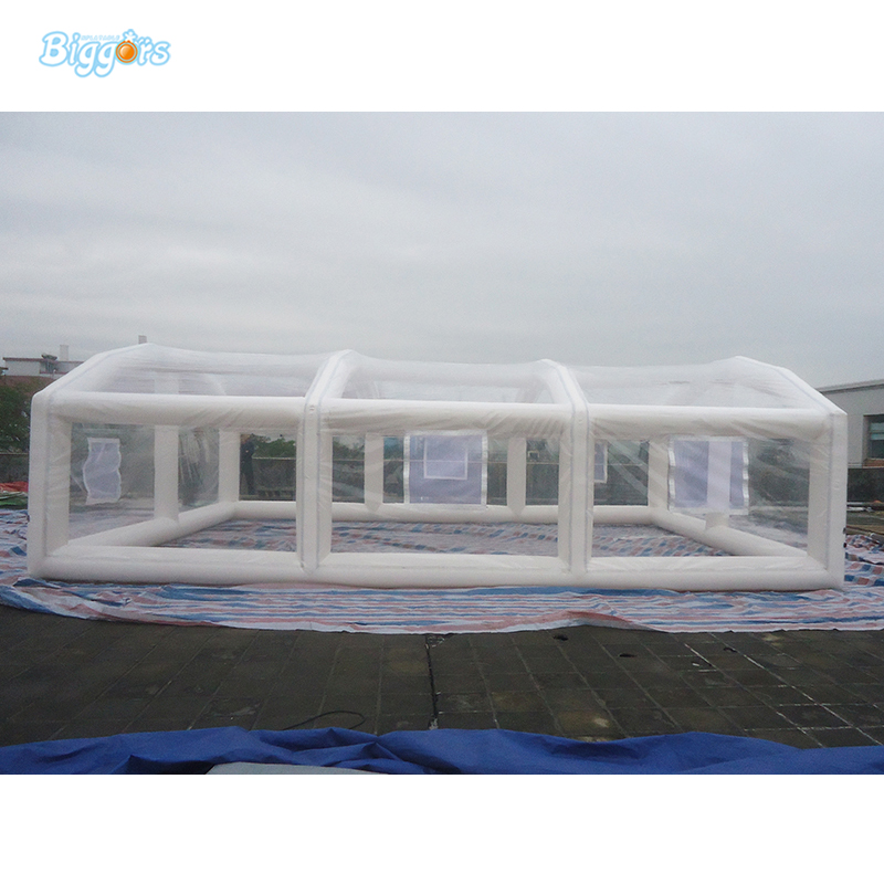 PVC Material White Transparent Tent Inflatable Tent Inflatable Garage Tent Inflatable Tent white color inflatable tent car garage tent with fully new blower