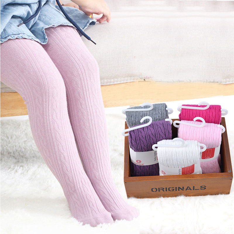 baby Spring/Autumn Tights Cotton Baby Girl Pantyhose Kid Infant Knitted Collant Tights Soft Infant Clothing rib knit tights