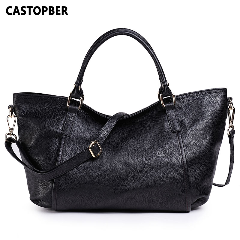 Fashion American and European Style Women Trapeze Bag Handbag Ladies First Layer of Cowhide Genuine Leather Shoulder Tote Bag qiaobao women general genuine leather handbags tide europe fashion first layer of cowhide women bag hand diagonal cross package