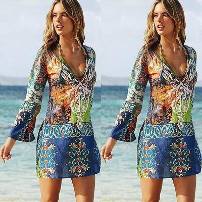 Women Beach Dress Swimwear Print Bikinis Cover-Ups Beac Dress Scarf Pareo Sarong Wrap Sunshade Women Beachwear Beach Outwear