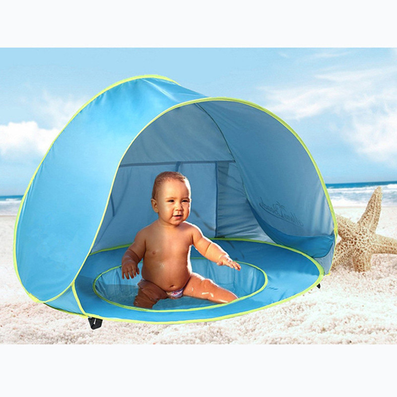 Brilliant Beach Pool Tent Baby Quick Pop Game House Easy To Fold Portable Mini Pool For Kids Children With Shade And Windproof Comfort Swimming Pool & Accessories