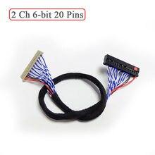 Universal LVDSสายDF14 20 S6 20pinคู่Dual 2 Ch 6 Bit 20P 1.25Mmสำหรับ12นิ้ว 15นิ้วจอLCD