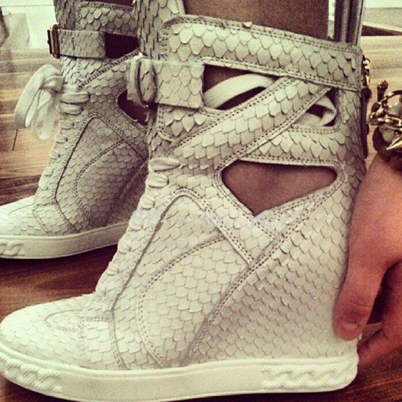 Svonces Merk Herfst Schoenen Hoogte Toenemende Fashion Casual Platform Schoenen Ademend Lace Up Verborgen Wiggen Sneakers Voor Vrouwen-in Sneakers voor vrouwen van Schoenen op  Groep 2