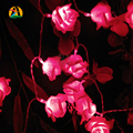 2017 Valentine's Day Battery Holiday Rose LED String Lights Ferias Rosa Garland 5M 50LED Luzes Cordas Bateria Events Party Light