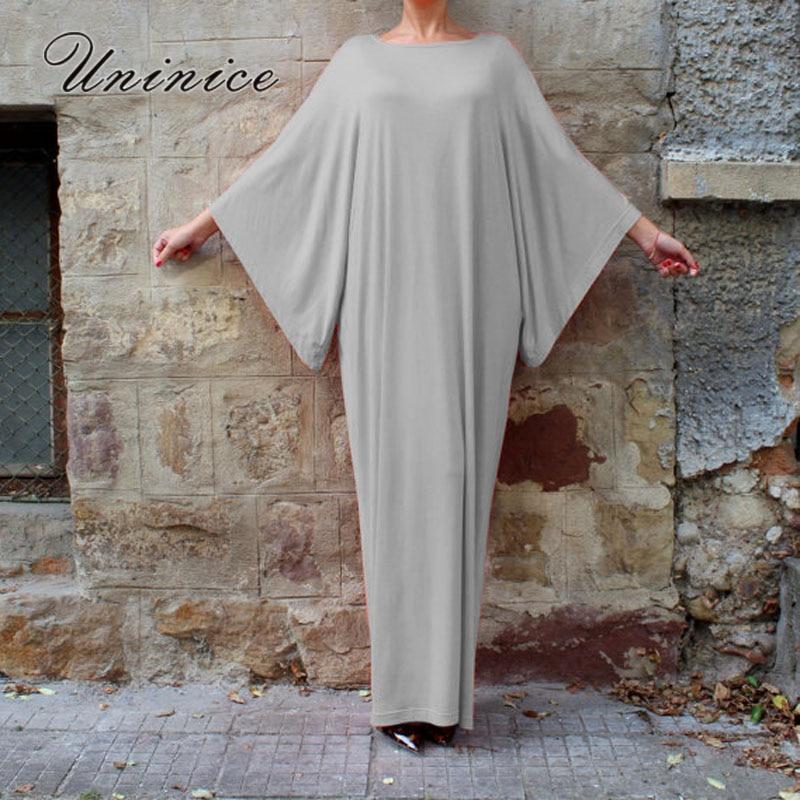 UNINICE Muslim Dress Long Kaftans for Women Islam Clothing Abaya Dubai Dress Fashion Turkish Robe Loose Graceful Islamic Dress