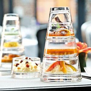 Креативный десерт многослойная тарелка стеклянная тарелка для салата Западный Ресторан Кофейня десертная тарелка набор