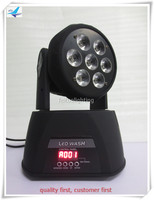 Mini Led Projector Rgbwa Uv Mini Led Wash Moving Head Light 7x18w
