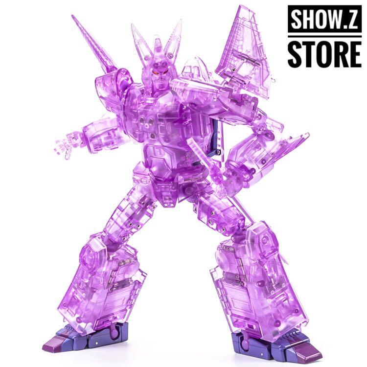 [Show.Z Store] XTransbots MX-III Eligos Cyclonus Clear Version Transformation Action Figure [show z store] x transbot mx ix aegis mx viii trailbreaker g1 xtransbot transformation action figure