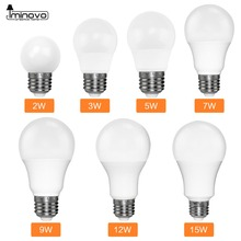 Фотография IMINOVO LED Bulb E27 110V 220v LED lamp Spotlight Bulbs 3w 5w 7w 9w 12w 15w High Bright SMD2835 Chip LED Ball Warm/Cool White