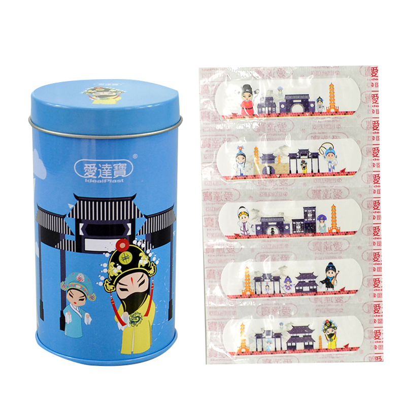Free Shipping 50PCs Cartoon PE Waterproof Chinese Peking Opera Style Adhesive Bandages Band Aid First Aid free shipping 50pcs mje15033g 50pcs mje15032g mje15033 mje15032 to 220