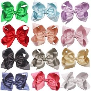 Image 2 - 20 個ブリンブリングリッターキラキラ髪弓 6 インチグリッターグログランリボンワニ口のヘアクリップ子供十代の若者たち