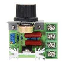 Eletrônico de Escurecimento AC 220 V 2000 W SCR Voltage Regulator Controlador de Velocidade Dimmer Termostato FEN