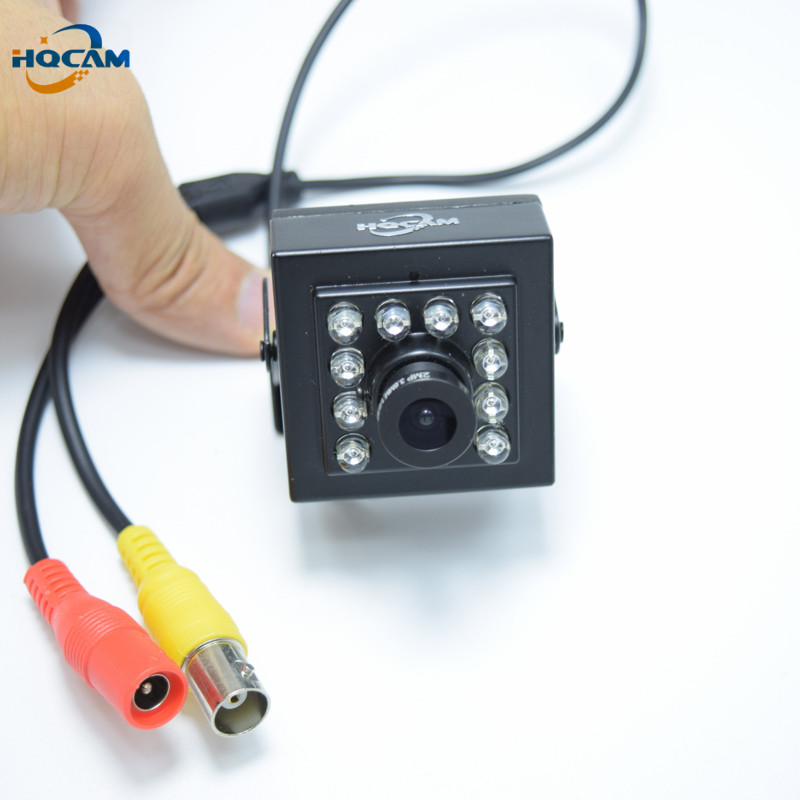 HQCAM CCD 700TVL Mini IR Camera 1/3'' Sony Ccd Security CCTV IR-CUT  Mini IR Cameray 10Pcs IR 940nm Infrared 0.1LU Night Vision