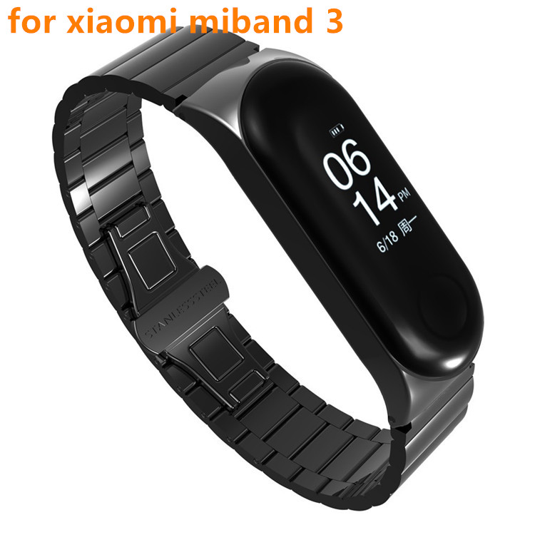 Replacement Strap Mi-Band Metal Stainless-Steel Xiaomi 3-Bracelet Fashion for Low-Price