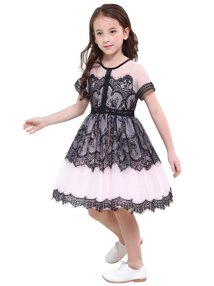 6-16Yrs Flower Lace Teenage Girls Wedding Dress Elegant Princess Party Pageant Formal Dress Children Prom Gowns Kids Clothes children prom clothes princess flower girl dress baby kids party wear gowns blue and white wedding party dress girls