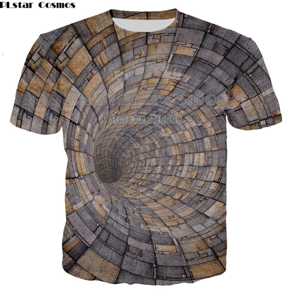 New Style Black And White Vertigo Hypnotic Printing T Shirt Funny 3D Dizzy Short Sleeve Tees Men/women Tops Tee Dropship