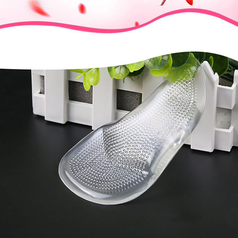 2Pcs=1Pair Silicone Heels Pad Insoles of Flatfoot Anti Slip Cushion Pad Arch Support High Heel Shoes Gel Pads for Feet Protector