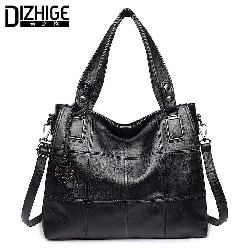 DIZHIGE Brand Luxury Handbags Women Bag Designer Famous PU Leather Bags Women High Quality Shoulder Bags Ladies Hand Sac Femme bolsa feminina preta fashion pu leather women bag designer handbags high quality ladies bags famous shoulder bag new sac