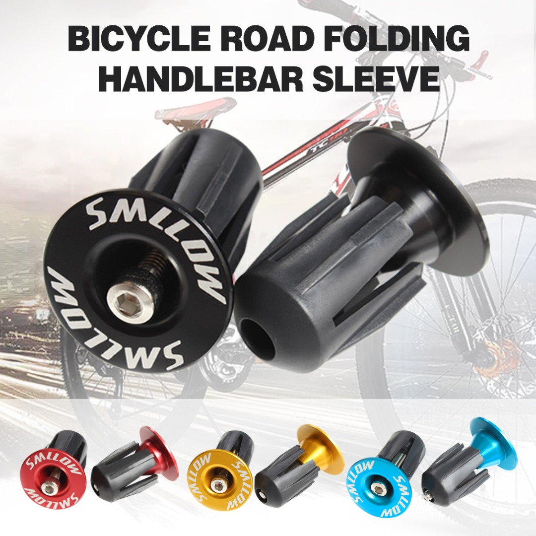 1 Pair Bicycle Handlebar Grip Caps MTB Road Bike Bicycle Aluminum Alloy Handlebar Grips Bar End Caps Plug Bike Parts
