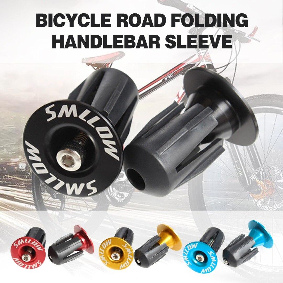 1Pair  MTB Bicycle Road Bike Aluminum Handlebar Grips Handle Bar Cap End Plugs