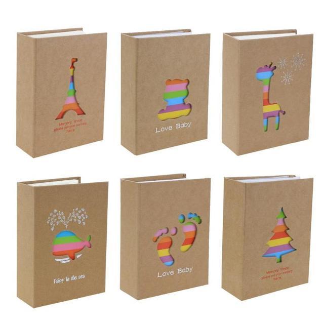 100 כיסים 6 inch אחסון תמונת אלבום תמונות אלבום תמונות מקרה מסגרת תמונת רעיונות למתנה לילדים ילדים