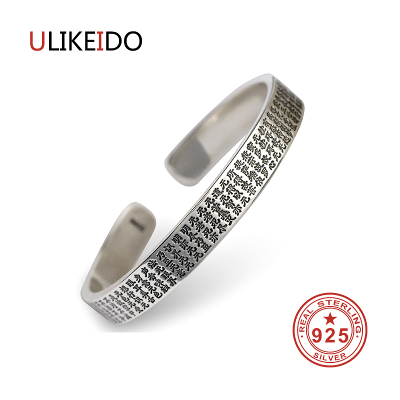 100% Pure 925 Sterling Silver Bangles Men Fashion Punk Hand Chain For Women Thai Silver Jewelry Charm Bracelet Homme 1366 925 sterling silver mens bracelets fashion domineering classic hand chain for men and women special jewelry charm bracelet 267