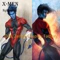 Free Shipping DHL X- Men Nightcrawler Kurt Wagner Superhero Costume Red And Black Lycra Spandex Halloween Cosplay Costume XM109