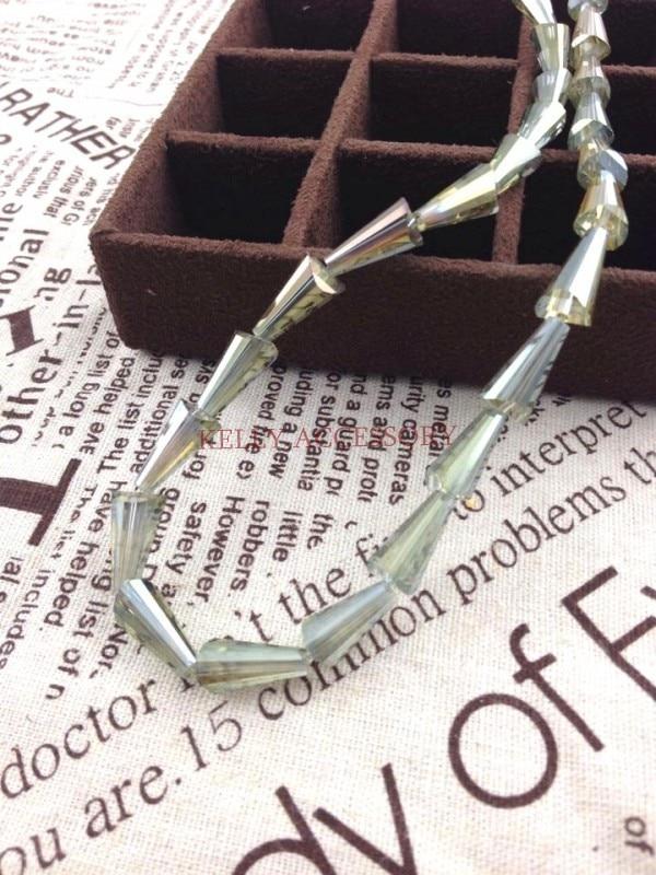 500 шт. половина золота Цвет Ограненный Кристалл Стекло Бусины свободные Teardrop Бусины 8*16 мм браслет DIY Бусины для изготовления ювелирных изделий