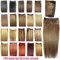 """16 """"-32"""" 100% extensões de cabelo humano de remy do Brasileiro Aleta na Extensão Do Cabelo Humano 70g-220g todas as cores de ações"""