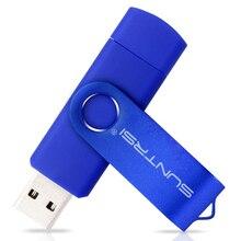 Suntrsi Smart Phone USB Flash Drive Metal Pen Drive 64gb 8gb