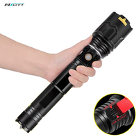 LED flashlight Cree xhp70 Lamp 5000 lumens USB charging Shock Resistant Self Defense 26650 battery Rechargeable led torch flashl