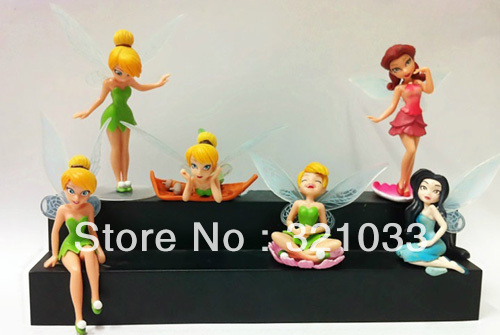 6 Tinkerbell Figure Figurine Ornament Toy Model Collection Collector