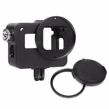 ATIRAR EM Liga de Alumínio Caixa de Proteção para GoPro Hero 6 Ação câmera com Filtro UV Caso Robusto Montar Hero6 Ir Pro acessório