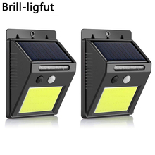 48 COB LED Solar Light PIR Motion Sensor Solar Powered Wall lamp Outdoor Waterproof IP65 Home Garden Security Wall Night Light недорого