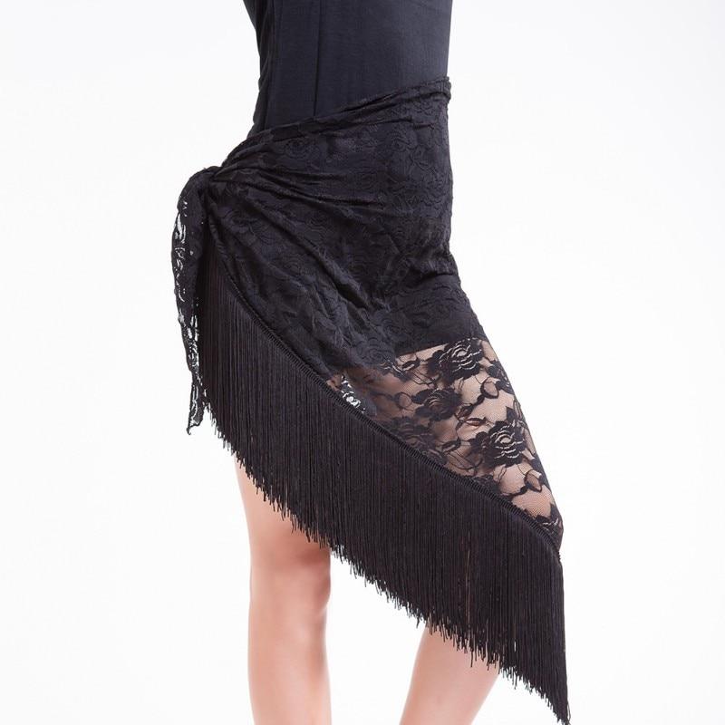 Belly Dance Tango Cha Cha Tribal Tassels Lace Triangle Hip Scarf Wrap Belt Skirt