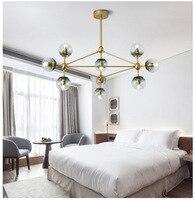 Jason Magic Bean Foyer Living DNA Golden Hanging Pendant Lamp Light Post Modern LED Gold Round