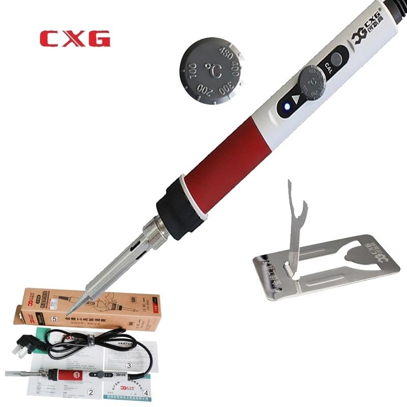 cxg dt70 the adjustable soldering iron soldering station eu plug 220v 70w ceramic heater replace. Black Bedroom Furniture Sets. Home Design Ideas