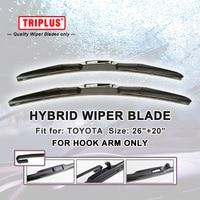 Hybrid Wiper Blade For Toyota Prado LC 150 2009 Onwards 1 Set 26 20 U HOOK