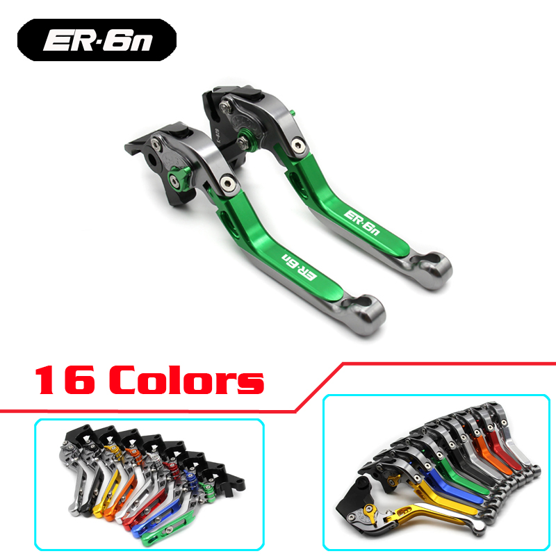 16 Colors CNC Motorcycle Brakes Clutch Levers For KAWASAKI ER6N ER-6N 2009 2010 2011 2012 2013 2014-15 Accessories