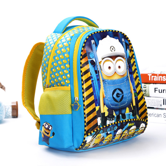 2016 Fashion Despicable Me 2 Kids Cartoon Bags Children Backpack Boy Minions Schoolbag Mochila Infantil School Bags Waterproof