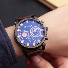 Blaus Masculino Jam Tangan Pria Migeer High-End Fashion Stainless Steel Watch Zegarek Analog Alloy QUARTZ Jam Tangan Reloj Hombre(China)