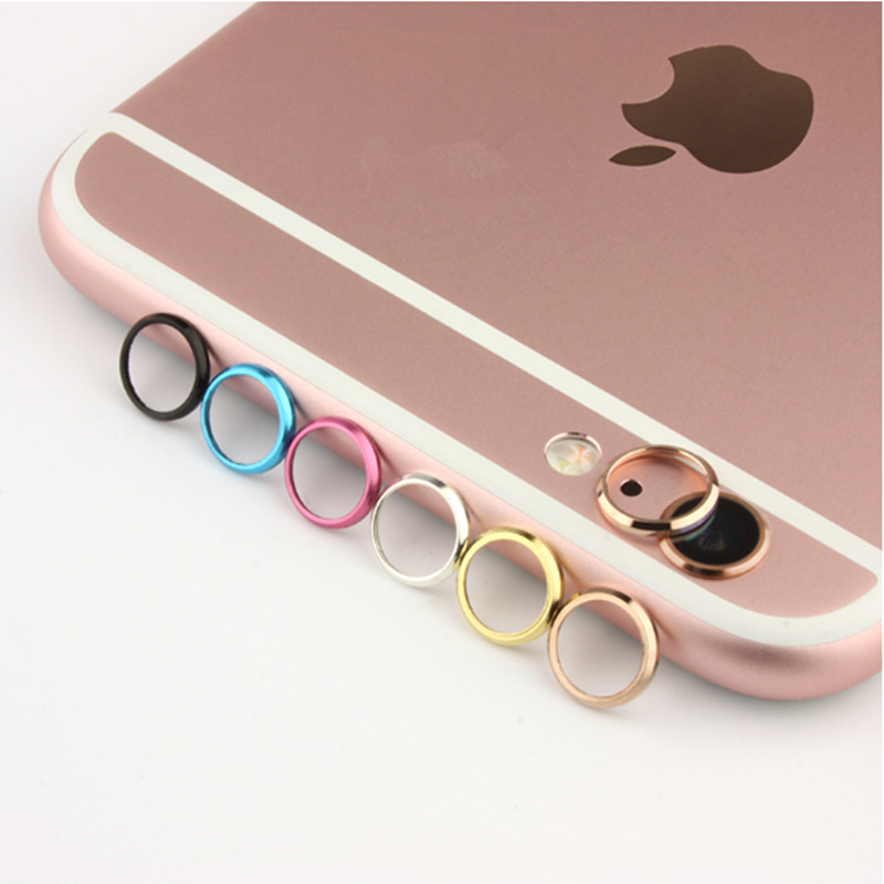50 pcs / lot Rear Camera Guard Circle Metal Lens Protective Case Cover Bumper protector for Mobile iphone 6 6s plus lens Ring