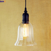 IWHD Glass Style Loft Industrial Lighting Fixtures Lampe Vintage Lamp Edison LED Pendant Lighs Lamparas Hanging
