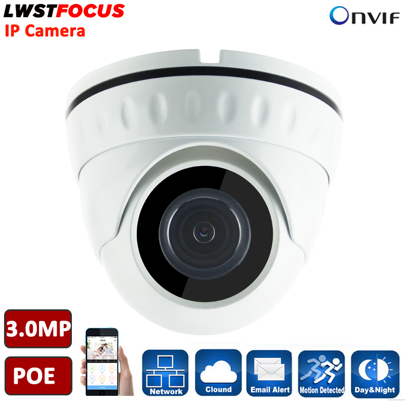 Hot H.265 3MP IP Camera 3MP Dome Camera LWIRDNS300 3.6MM Lens 1080P PoE CCTV IP Camera O ...