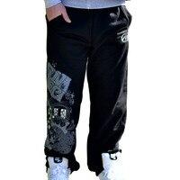 Men S Sports Hip Hop Rock Cotton Casual Rhino Print Punk Baggy Pants SkateBoarding Sweatpants Fleece